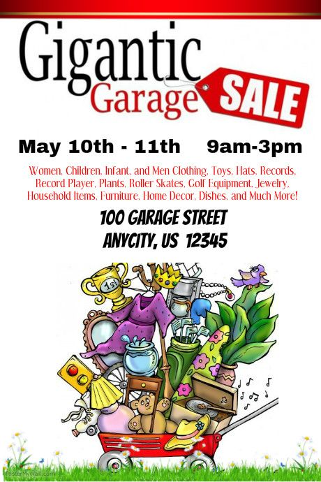 Best Garage Sale Posters Images On   Poster Prints