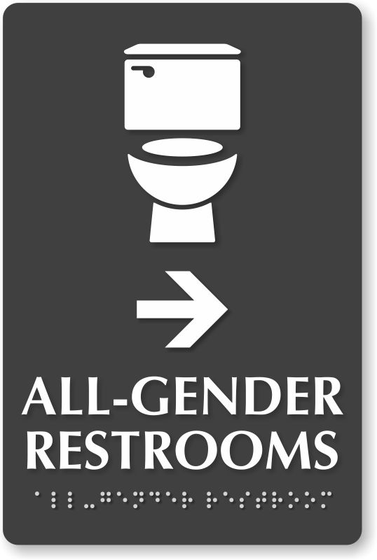All-Gender Restroom Signs | Transgender Restroom Signs