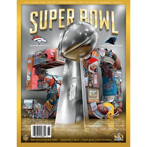 Super Bowl 50 Broncos vs Panthers Program- National Version