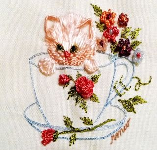 RosalieWakefield-Millefiori: I Will Now Brazilian Embroider a Teacup