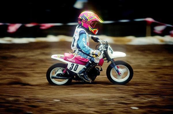 James Stewart in 1992 at Loretta Lynn's on his Yamaha PW 50