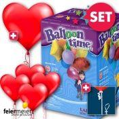 Perfektes Helium- & Ballon-Dekoset für Hochzeiten.