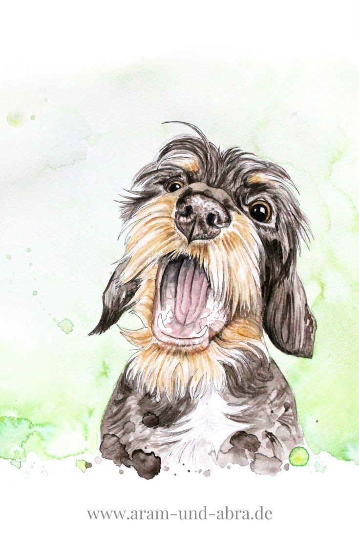 Hund Malen Lassen In Aquarell Portrait Zeichnen Ideen Diy
