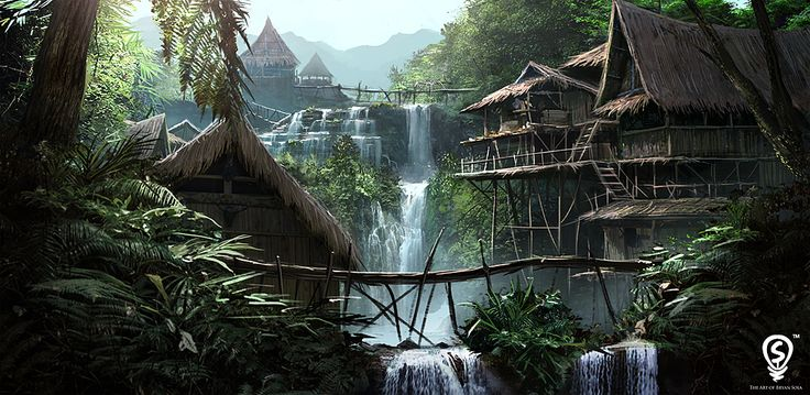 background art  http://www.pinterest.com/warwickhays/2d-backgrounds/ Tribe Environment Concept by bpsola on deviantART