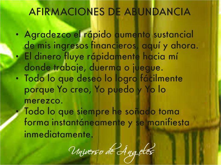 Afirmaciones de Abundancia  #UniversoDeAngeles