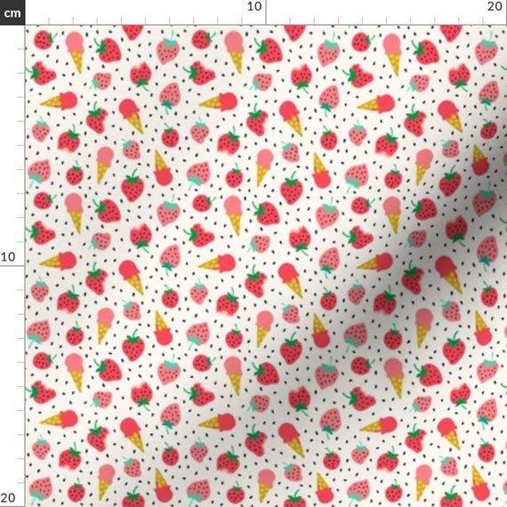 Erdbeer Stoff – Erdbeer Sommer Eis Party Mini von Heleen Vd Thillart …   – Products