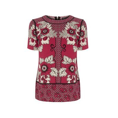 Warehouse Tile floral t shirt- at Debenhams.com