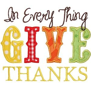 All Appliques - Give Thanks 3