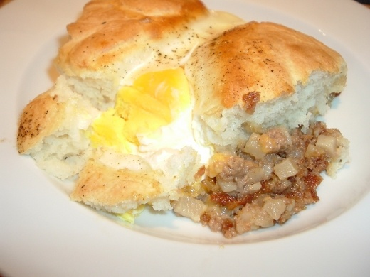 Cracked Egg Breakfast Pies Recipe — Dishmaps