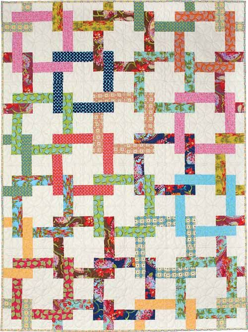 Quilting Quickly - Pretzel Twist - jelly roll - in: QUILTING QUICKLY MAY/JUNE 2016 ISSUE