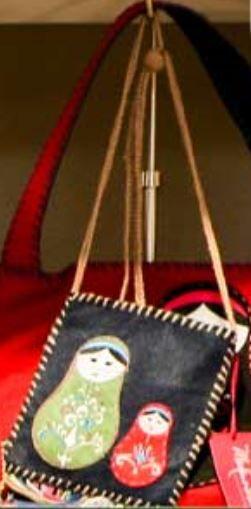 S&R babushka felt carry-all. Christmas present for Jane.