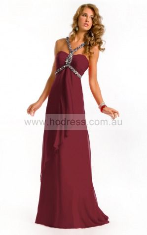 Sleeveless None Spaghetti Straps Floor-length Chiffon Evening Dresses dt00069