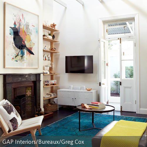 Vintage Das Wandbild mit Vogelmotiv wurde dekorativ ber dem Kamin angebracht und ist ein k nstlerischer Eyecatcher im