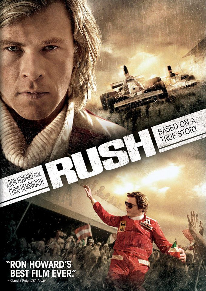 Movie - Rush - 2013.  My instresting story of what my mom told me: Last week I ask my mom how was it and she said it was good, and she never seen James Hunt in a very long time when she was 13 or 14 years old, but she watch him on tv since in 1970s.