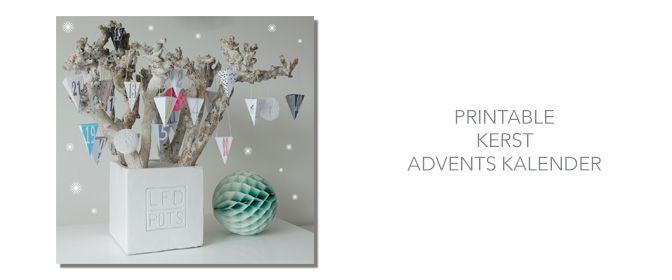 Free printable X-mas advent calendar