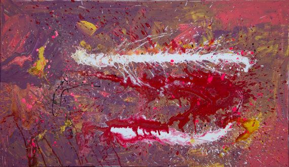Original Abstract Acrylic Painting. Contemporary Art.  Signed and dated on the back. Size: 120cm x 70cm (47in x 27.5in)