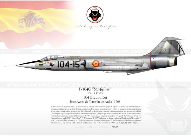 F'104G Starfighter, Ejército del Aire (Spanish Air Force), 1968