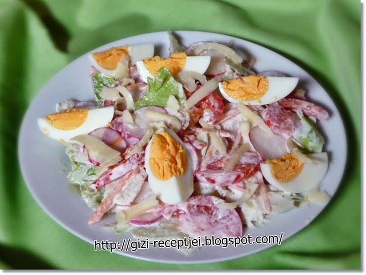 Gizi-receptjei. Várok mindenkit.: Tavaszi saláta.