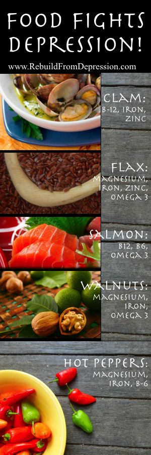 Foods Can Fight Depression from RebuildFromDepression.com