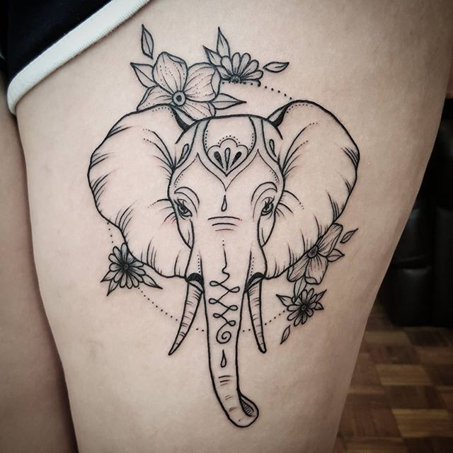 Nice simple one from this morning @the_tattooed_arms #elephant #elephanttattoo…