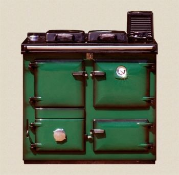 Reconditioned Rayburn Supreme 355 Green Shaded Enamel