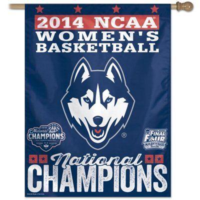"""WinCraft UConn Huskies 2014 NCAA Women's Basketball National Champions 27"""" x 37"""" Vertical Banner"""