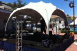 Mini Echidna 4m x 4m with a frame on a Stage