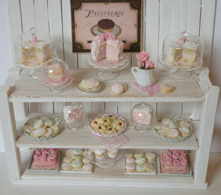 RESERVED - Miniature Shabby Chic Bakery counter