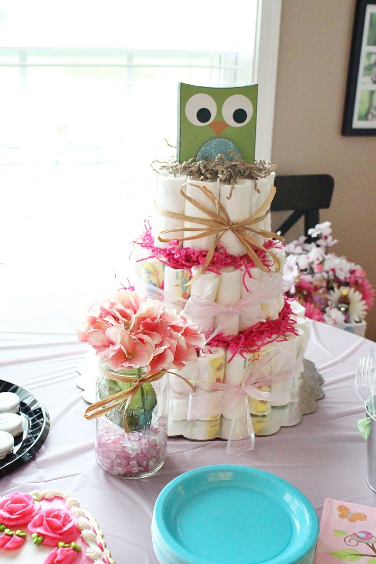 13 best baby shower images on pinterest owl baby showers owl owl baby shower diaper cake this would be super cute and just serve cake pops baditri Gallery