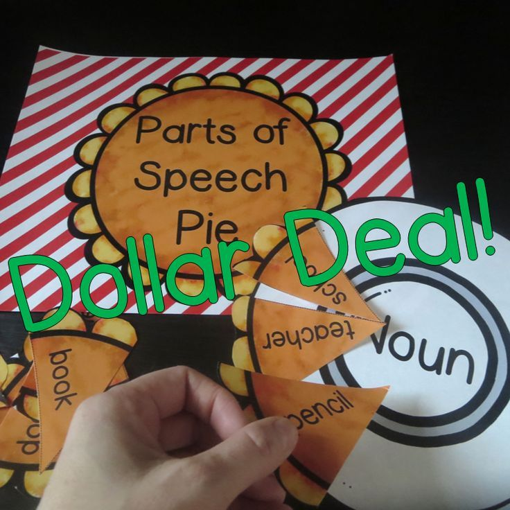Parts of Speech Pie is a fun and quick game for students to practice their parts of speech. This comes with 3 plates and 3 pies.   Only $1.00!