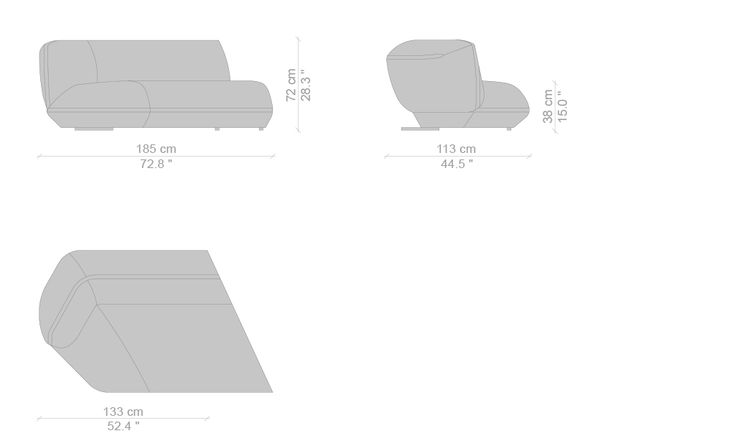 The 552 Floe Insel Sofa was designed by Patricia Urquiola. Find out more on Cassina's website.