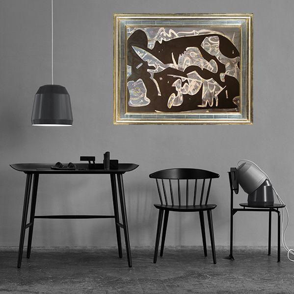 """"""" Jardín de la infancia """", obra Noreriana en blanco / negro, técnica mixta sobre papel preparado. Esta pintura es de una bondad y una luminosidad notable, lograda con tenacidad natural y desarrollo individual renovador."""