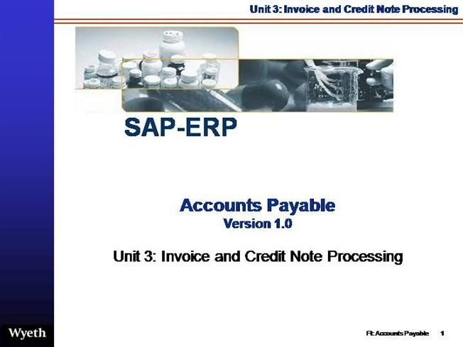 SAP Accounts Payable Invoice Credit-Note Processing by eddai via authorSTREAM