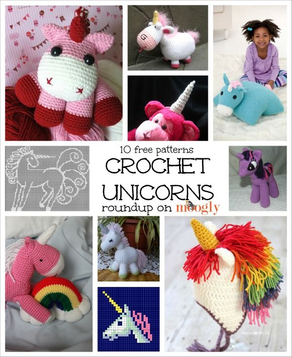 Crochet is Magic: 10 Free Crochet Unicorn Patterns! I'm going to crochet the shit out of these!!!!!