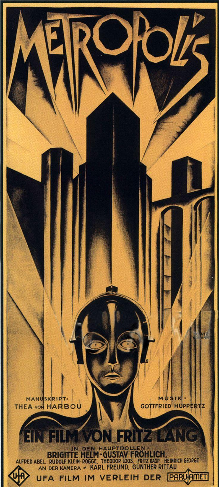 vintage art | Metropolis Poster, Metropolis (1927), Classic Vintage Movie Poster Nesta página em http://mundodecinema.com/lista-festivais-de-cinema/ encontra dezenas de festivais de cinema credenciados que todos os anos concentram atenções dos cinéfilos em Portugal, Brasil e no Mundo.