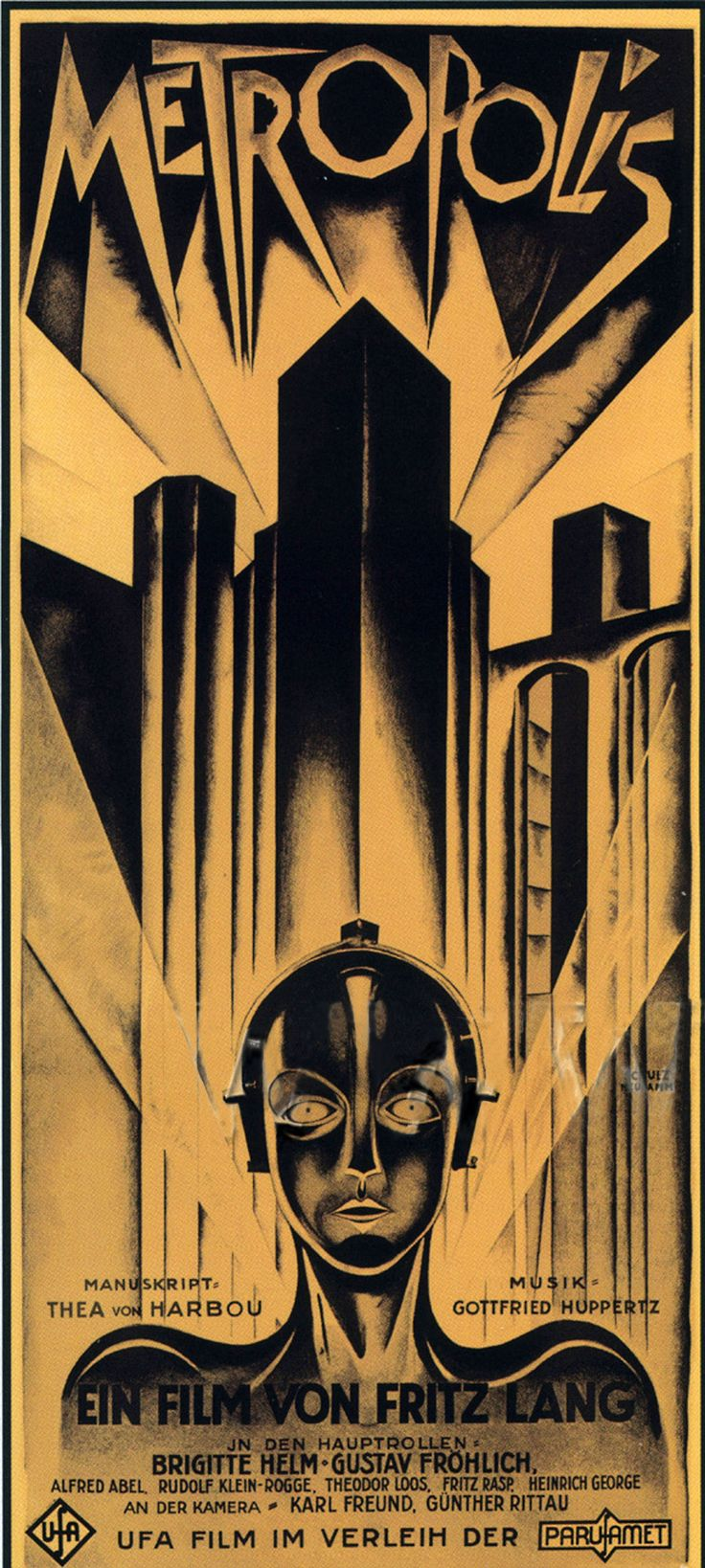 vintage art | Metropolis Poster, Metropolis (1927), Classic Vintage Movie Poster