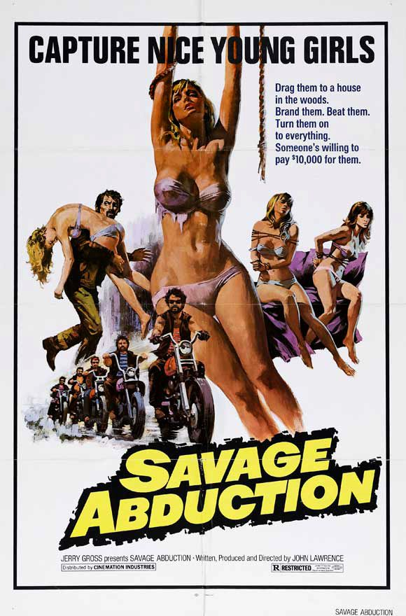Savage Abduction (1973) || exploitation bikers crime film poster (dir. John Lawrence)