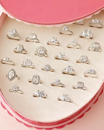 Imagine being presented with this and asked to pick whatever one you wanted...a girl can dream.: Vintage Engagement, Idea, Every Girls, Diamonds Rings, Boxes, Valentines Day, Wedding Rings, Dreams Coming True, Engagement Rings