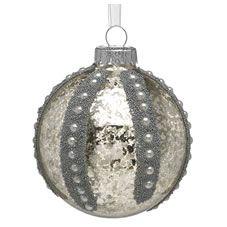 Wilko Heirloom Antique Beaded Bauble Christmas Tree Decoration Pink Www.wilko.com
