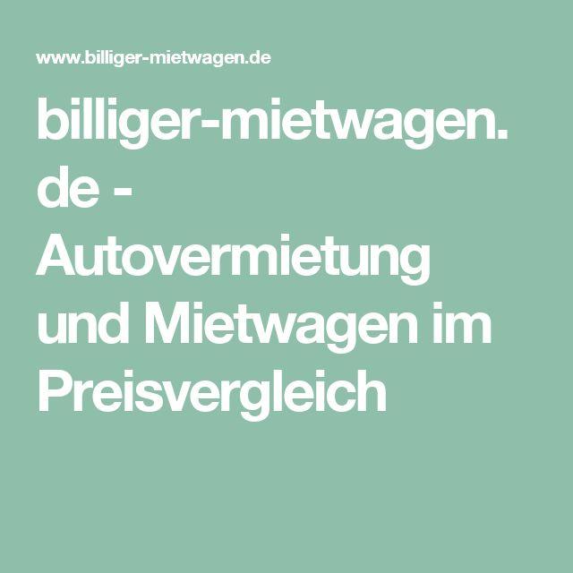 billiger-mietwagen.de - Autovermietung und Mietwagen im Preisvergleich