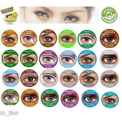 Lentille de couleur FRESH tone contact lenses* Vendeur Français* Livraison  48H