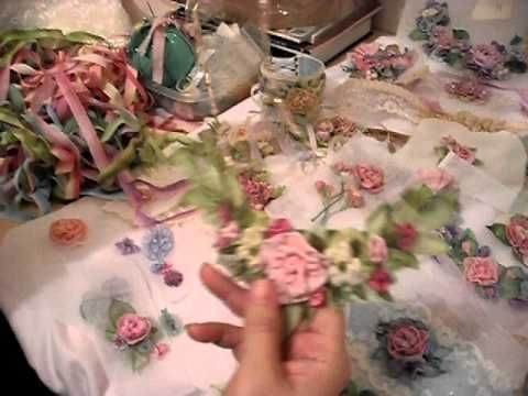 SOURCE FOR INSTRUCTION RIBBON ▶ How to make French ribbonwork silk flowers - YouTube