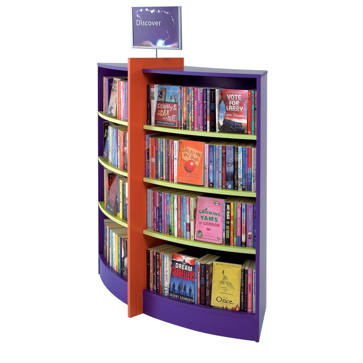 Home Library Design Ideas You Must See: Curved Bookcase
