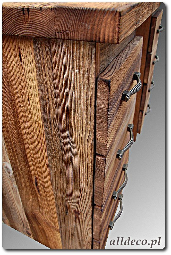 Biurko ze starego drewna/ Commode en vieux bois