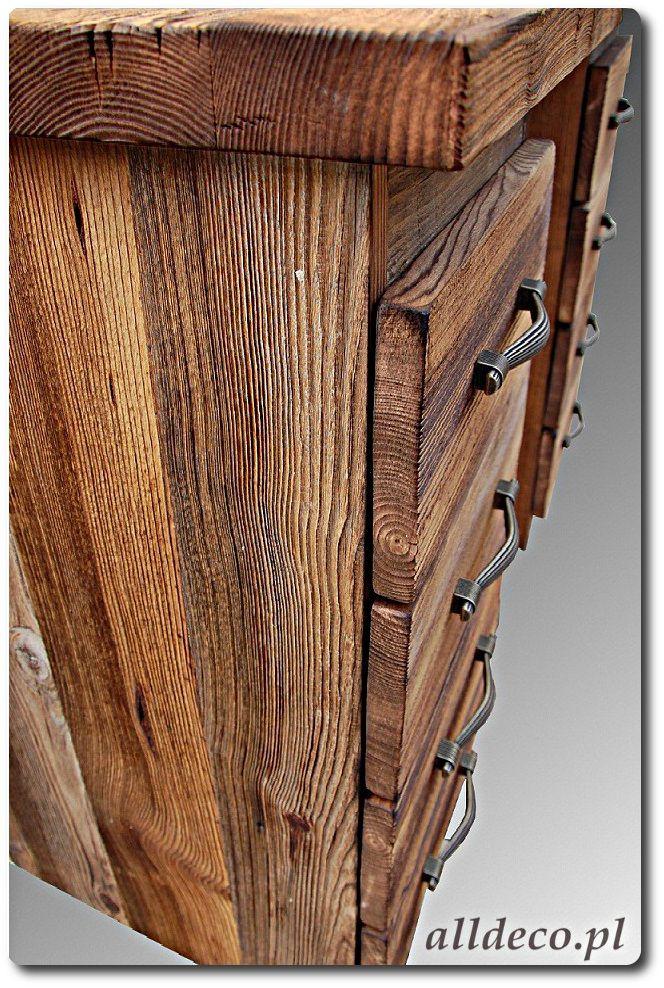 Biurko ze starego drewna