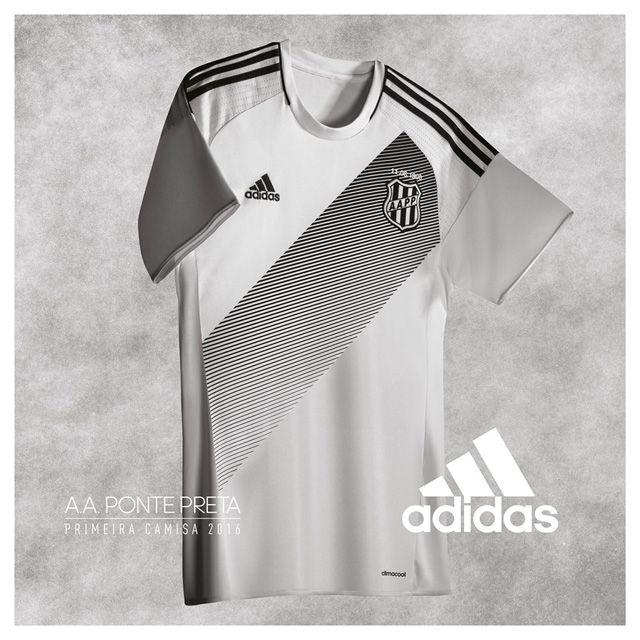 Camisas da Ponte Preta 2016-2017 Adidas