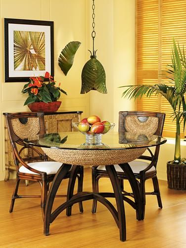 Tropical Style Decor For Your Dining Room.