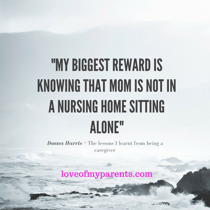 We all have levels of what is important to them , Donnas is to make sure her Mom is not    ... What is important to you , when it comes to your parents   ?    Leave me a comment or like and share it with someone who has parents who need care   :)