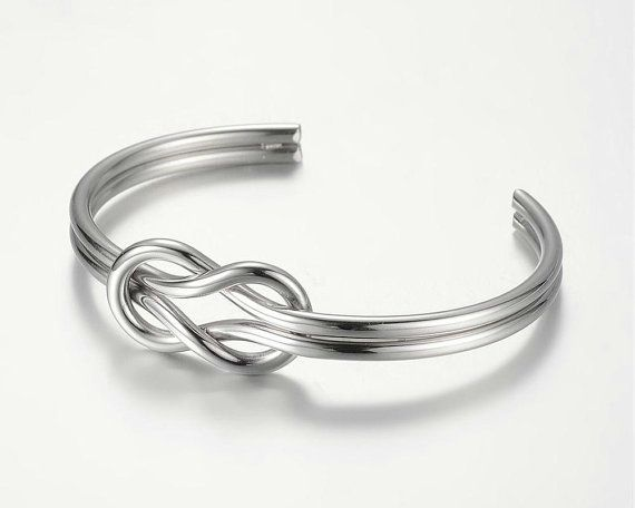 Mens Knot Bracelet Stainless Steel Sailors Knot by GUSFREE on Etsy
