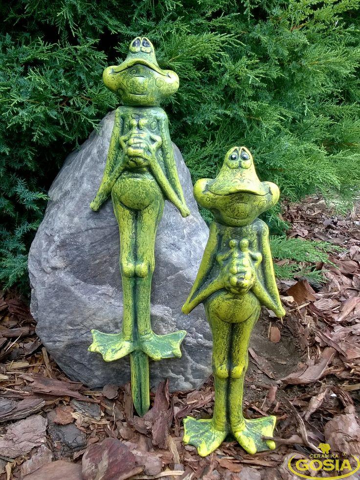 Żaba pik - figurka ceramiczna ogrodowa